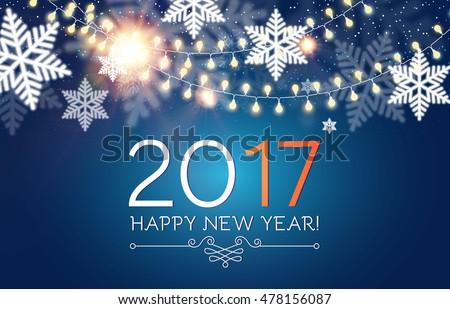 happy new 2017 year seasons