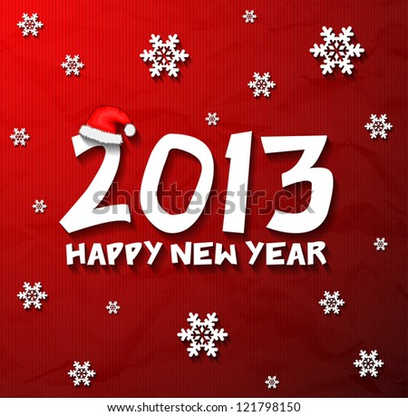 Happy New Year 2013 snowflakes wallpaper eps10
