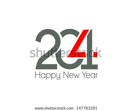 Happy new year 2014 text design