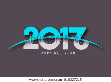 Happy new year 2017& 2016 text design elements for holiday cards, decorations Vector Illustration background