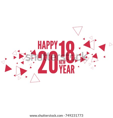 Happy new year 2018 theme.