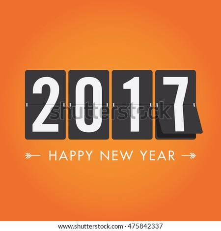 Happy new year 2017 timetable, editable vector design
