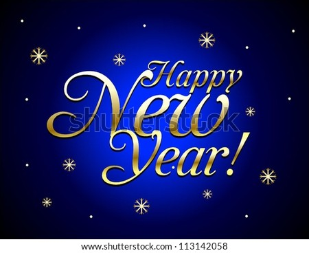 Happy New Year. Vector