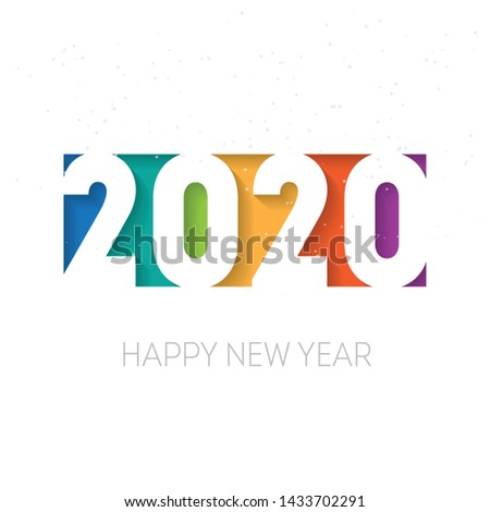 Happy new year 2020 vector background. Vector brochure or calendar cover design template. Cover of business diary for 2020 with wishes.