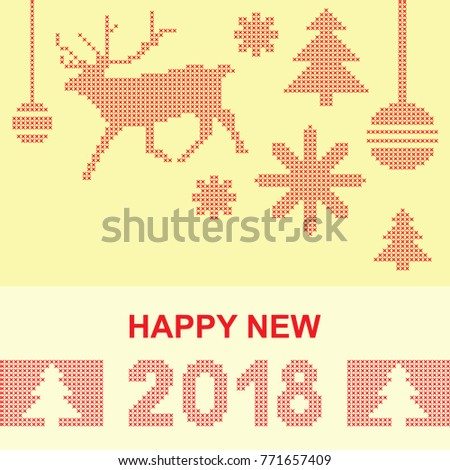 happy 2018 new year vector card