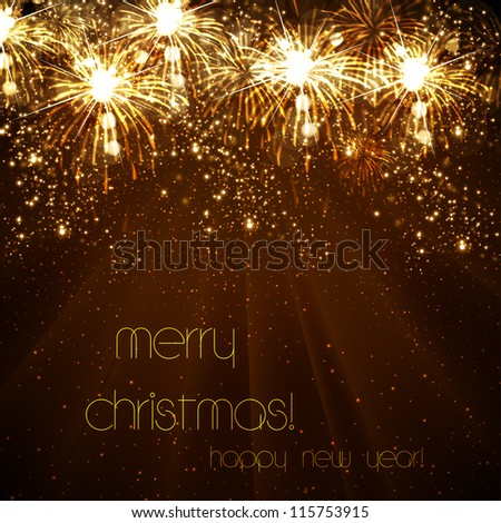 Happy New Year vector celebration background, eps10 - stock vector