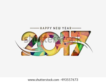 Happy new year 2017 Vector Design Background