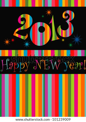 Happy new year 2013! Vector Illustration