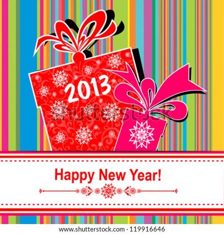 Happy new year 2013! Vector Illustration