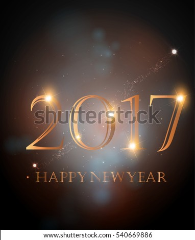 happy new year 2017 - vector illustration