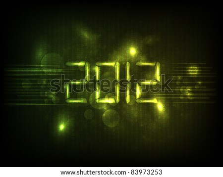 happy new year 2012 vector