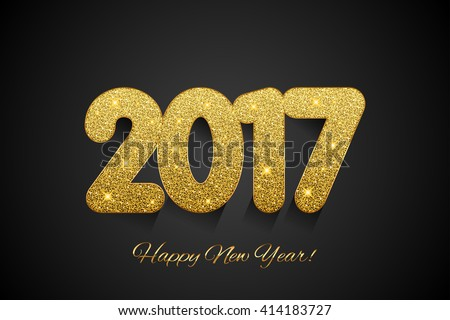happy new year 2017 vector new