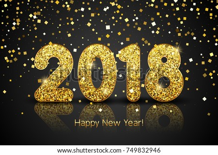 happy new year 2018 vector new year background