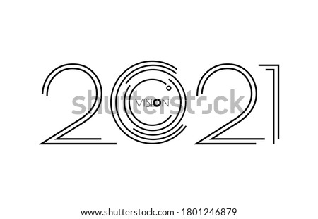 Happy new year 2021 Vision. 2021 vision. Happy new year 2021