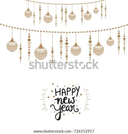Happy New Year, wallpaper design.