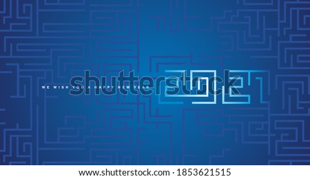 Happy New Year 2021 white cyberspace abstract high tech new year 2021 typography blue background