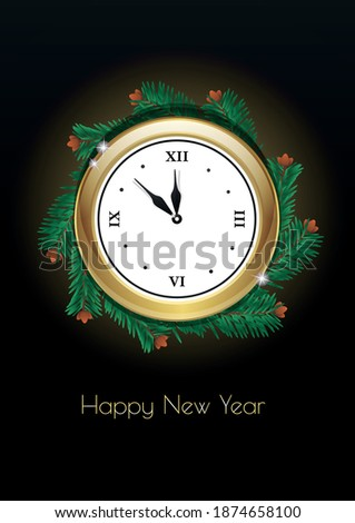 happy new year winter holiday