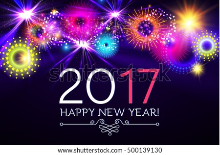 happy new 2017 year with