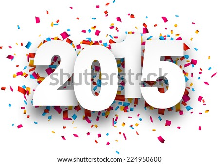 happy 2015 new year with