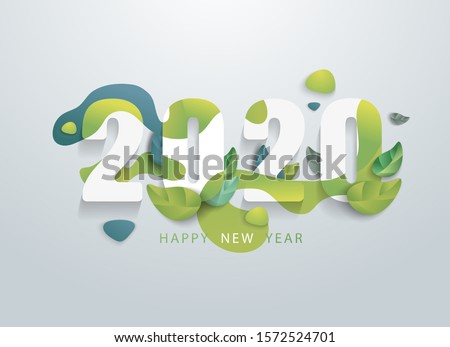 happy 2020 new year with