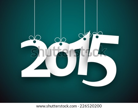 happy 2015 new year word