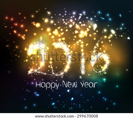 happy new year 2016 written