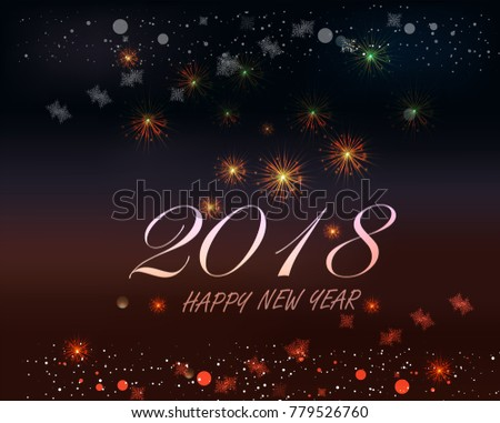 happy new year 2018 text written in golden style - Download Free ...