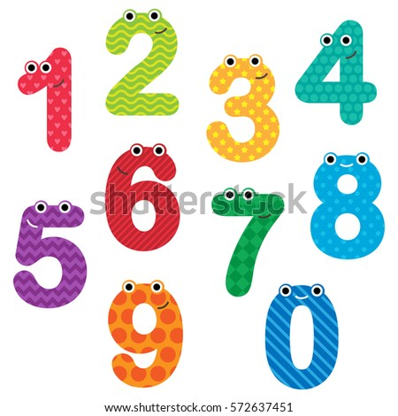 happy numbers with faces and