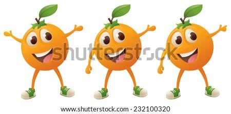 happy orange character in