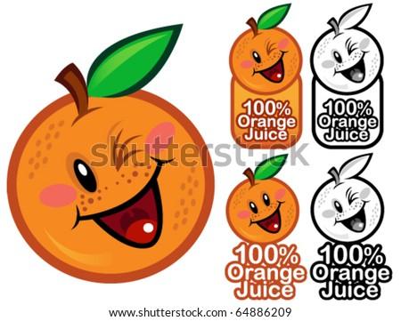 happy 100  orange juice seal