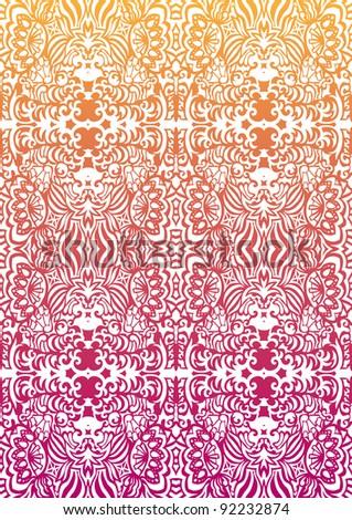 Happy orange-pink seamless pattern - stock vector