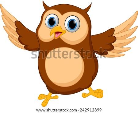 Cartoon owl vectors download free vector art stock graphics happy owl cartoon voltagebd Images
