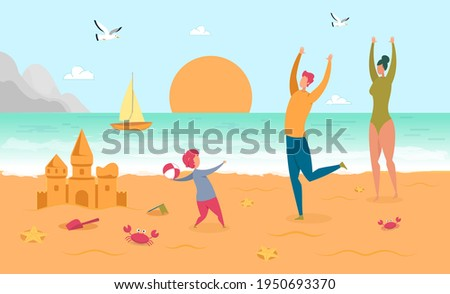 happy parent play ball with