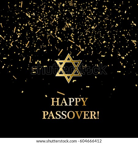 Happy passover background. Vector stock.
