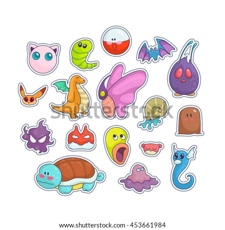 happy patches set  colorful