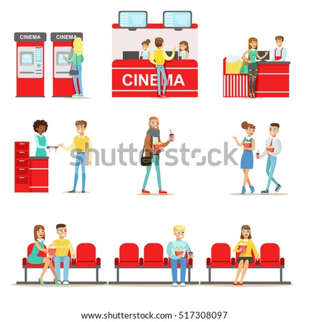 happy people in cinema theatre