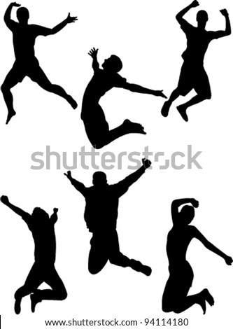 happy people jumping collection