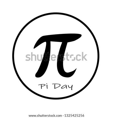happy pi day icon on white background. flat style. pi day icon for your web site design, logo, app, UI. pi symbol. pi sign.