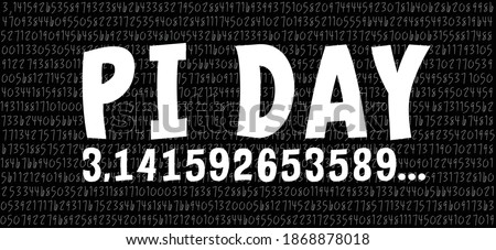 Happy PI day, 14 march, Pythagoras mathematical numbers series ( 3.14 3,14 ) symbol. Fun vector. Ratios letters formula structure.  Zdjęcia stock ©