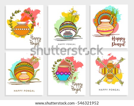 Vector illustration of happy pongal greeting background download happy pongal greeting card background m4hsunfo