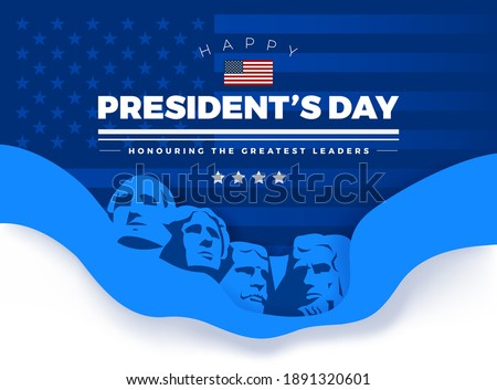 happy presidents day card with