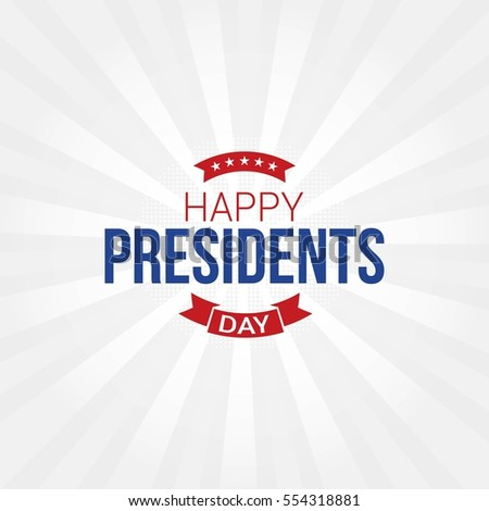 happy presidents day vector...