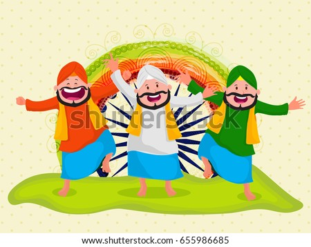 happy punjabi men in indian