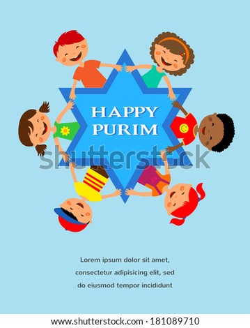 happy purim different colors