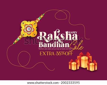Happy Raksha Bandhan Background Design with Creative Rakhi Illustration - Indian Religious Festival Raksha Bandhan