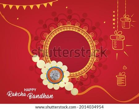 Happy Raksha Bandhan Indian Festival Celebration Greeting Background Design. Happy Rakhi.