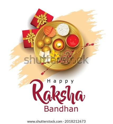 Happy Raksha Bandhan with stylish vector illustration in a creative background. Indian Religious Festival. colorful Rakhi Design.