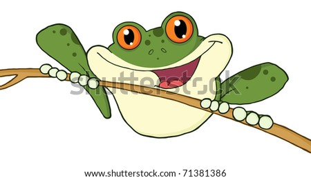 Happy Red Eyed Green Tree Frog