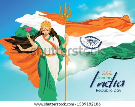 happy republic day  vector