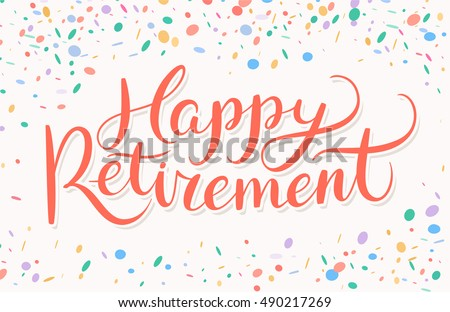 Happy Retirement banner.